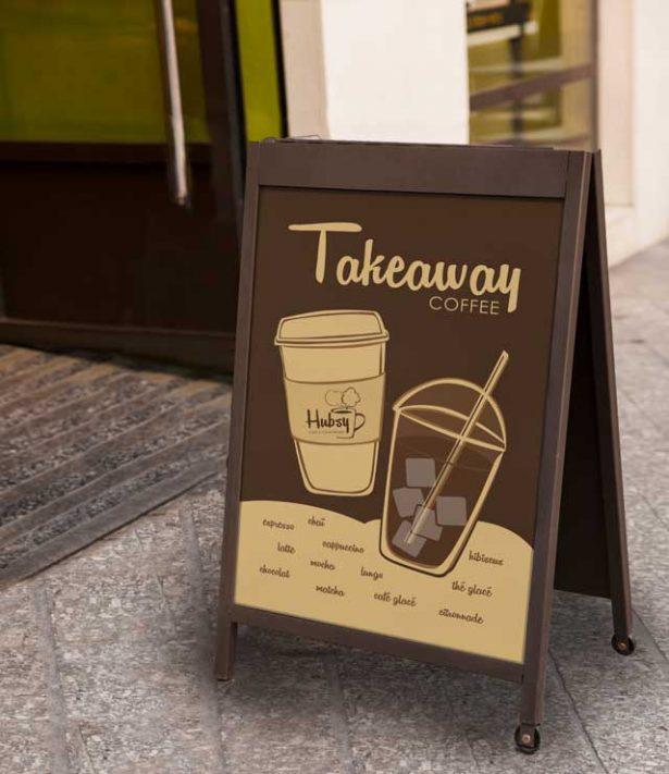 Création et déclinaison graphique Hubsy Café