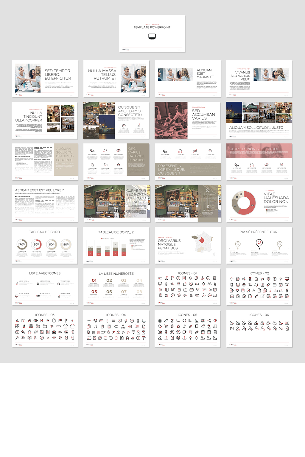 template powerpoint Castell Synergie